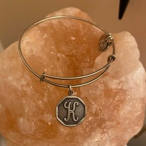 Alex and Ani Silver 'is K' Initial